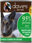 Dave's 95% Beef & Beef Liver Canned Dog Food 12.5oz