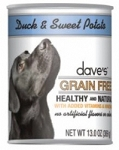 Dave's Grain Free Duck & Potato Canine Cans 13 oz