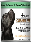 Dave's Grain Free Chicken, Salmon & Sweet Potato Dog Food 13 oz