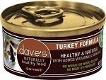 Dave's Grain Free Turkey Canned Cat Food  5.5 oz