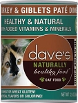 Dave's Turkey & Giblets Pate Can Cat Food 12.5 oz