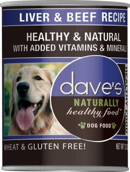 Dave's Beef & Liver Canned Food 13 oz