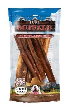 "Pure Buffalo Bully Stick 6"" 6 Pack"