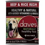 Dave's Beef & Rice Canned Dog Food 13 oz