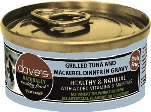 Dave's Grain Free Tuna & Mackerel  Canned Cat Food  5.5 oz