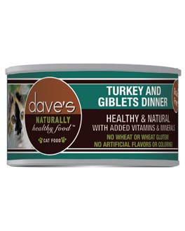 Dave's Grain Free Turkey Giblets Canned Cat Dinner  3 oz