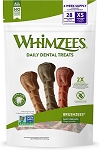 Whimzees Brushzees Small Daily Use Treats 7.4oz